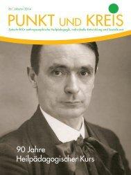 PUNKT UND KREIS Johanni 2014 -- 90 Jahre Heilpädagogischer Kurs
