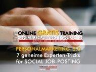 Personalmarketing 2.0 - 7 geheime Experten-Tipps zu Social Job Posting