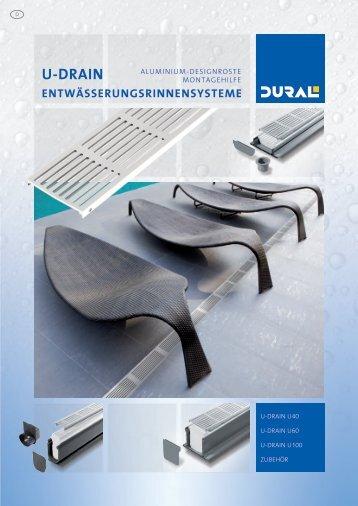 ENTWÄSSERUNGSRINNEN-SYSTEM U-DRAIN by DURAL