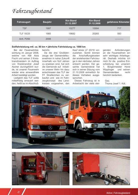 Stand 31.12.2008 - Freiwillige Feuerwehr Straßkirchen
