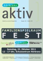 Hörbranz aktiv - Oktober 2011 - Familienspielraum Fest