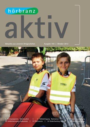 Hörbranz aktiv - Oktober 2012 - Kinderfasching Leiblach