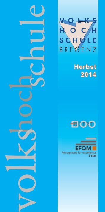 VHS Bregenz Kursprogramm Herbst 2014