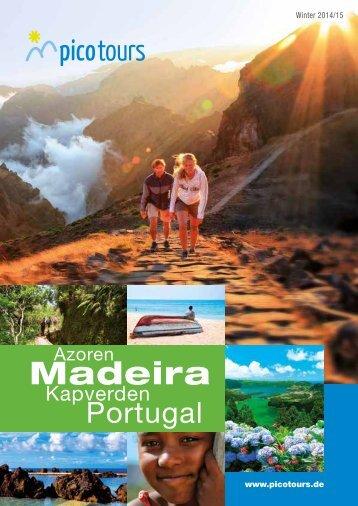 Reisekatalog für Madeira, Azoren, Kapverden, Portugal