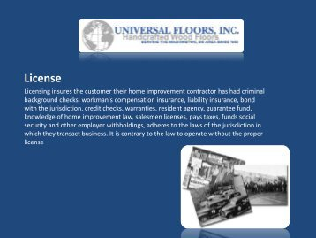 Wood Floors and Wood Floor Refinishing | Universal Floors, Inc.