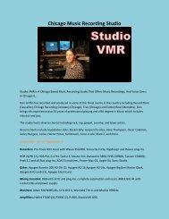 Chicago Music Recording Studio