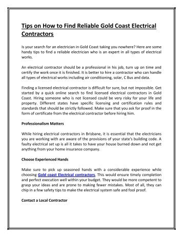 Why Should You Hire Professional Electricians in Gold Coast? on part time jobs, work home call center agents, work home assembly no investment, construction jobs, dental jobs, government jobs, work home business, people working jobs, high-paying jobs, fitness jobs, childcare jobs, work at home, work office jobs, work place, work time, full time jobs, math jobs, work weekend jobs, any jobs, work away jobs,