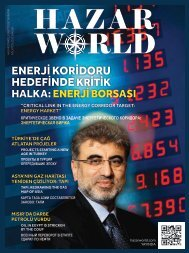 Hazar World - Sayı: 09 - Ağustos 2013