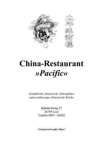 China-Restaurant »Pacific«