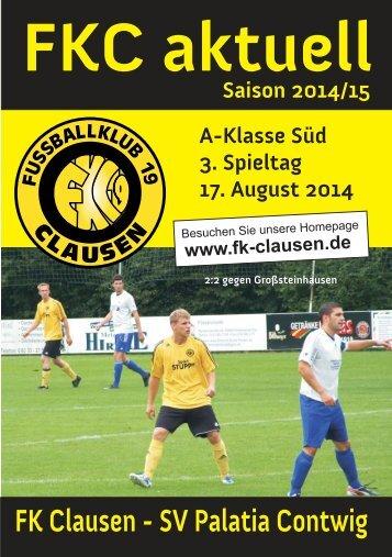 FKC Aktuell - 03. Spieltag - Saison 2014/2015