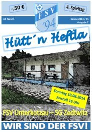 Hütt´n Heftla 2014/2015 Ausgabe 2
