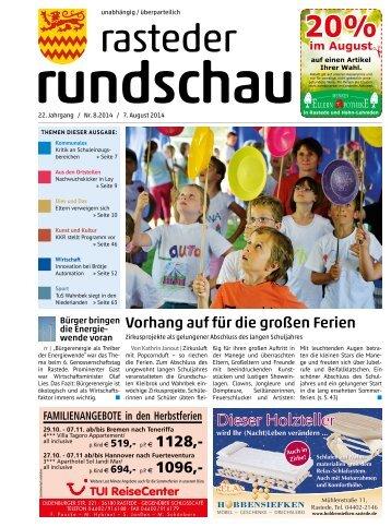 rasteder rundschau Ausgabe August 2014