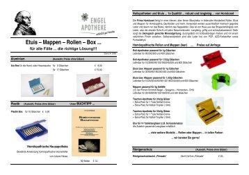 Etuis – Mappen – Rollen – Box - Engel Apotheke Freiburg