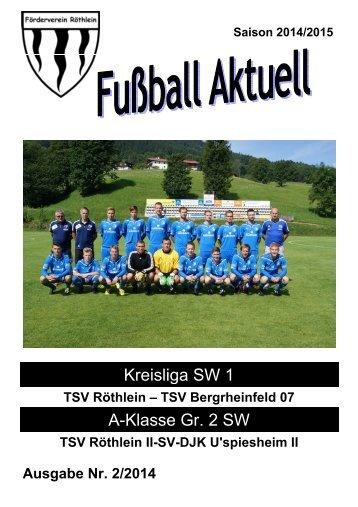 Fußball aktuell Nr. 2 2014/15