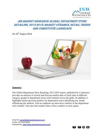 jsb market research global business Jsbmarketresearch is global market research report company get forecast  statistics on industry trends, market research reports and industry analysis of.