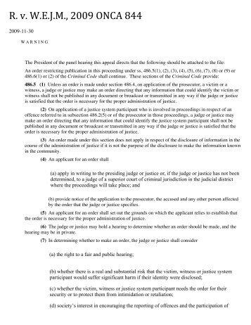 R.#v.#W.E.J.M.,#2009#ONCA#844
