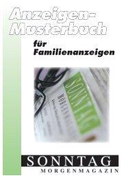 Anzeigen- Musterbuch
