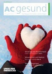 AC gesund - Das Magazin der Uniklinik RWTH Aachen