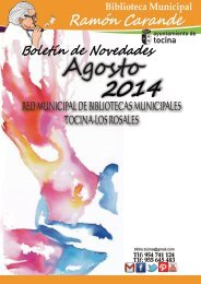 Revista de Novedades de Biblioteca de Tocina 2014
