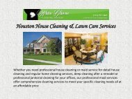 Houston House Cleaning & Lawn Care Services
