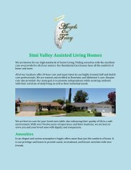 Simi Valley Assisted Living Homes