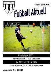 Fußball aktuell Nr. 3 2014/15
