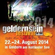 Geldernsein Festival 2014 -Programmheft-