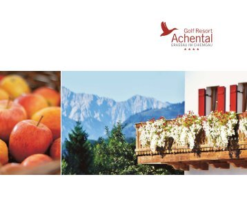Golf Resort Achental Hotelprospekt