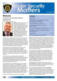 Border Security Matters Aug 2014
