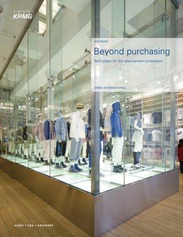 Beyond purchasing
