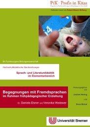 Begegnungen mit Fremdsprachen - elementargermanistik.uni ...