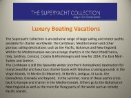 Luxury Boating Vacations