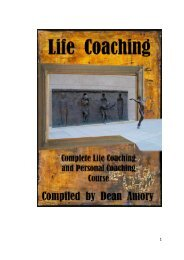 Definitions and models of Life Coaching, Self Coaching and Personal Coaching - Dean Amory