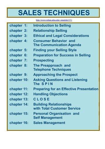 Sales Techniques - Dean Amory