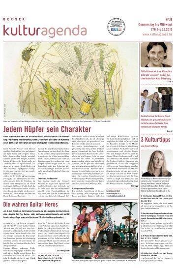Berner Kulturagenda 2013 N°26