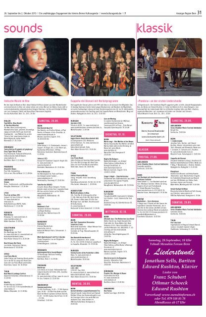 Berner Kulturagenda 2013 N°39