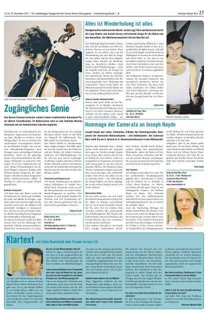 Berner Kulturagenda 2012 N°50