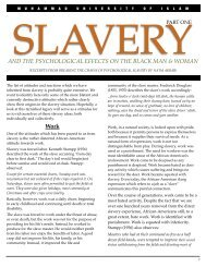 SLAVERY: The Pychological Effects