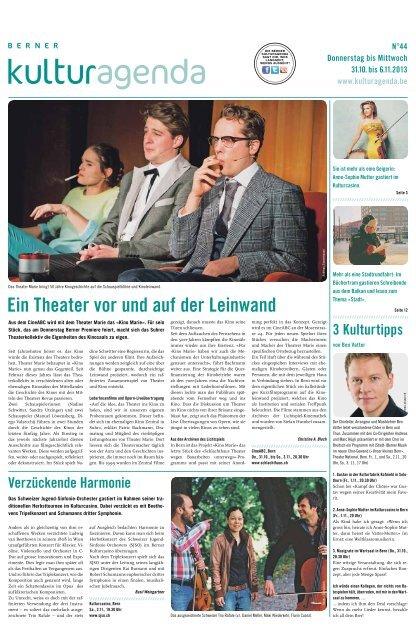 Berner Kulturagenda 2013 N°44
