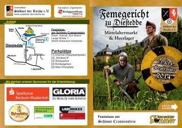 Femegericht zu Diestedde - Mittelaltermarkt & Heerlager
