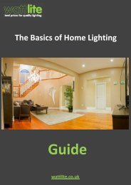 The Basics of Home Lighting