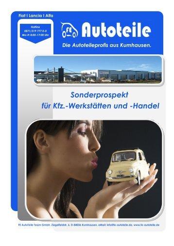 Sonderprospekt für Kfz.-Werkstätten und -Handel