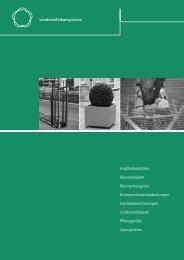 Thieme Stadtmobiliar Landschaftsbausysteme