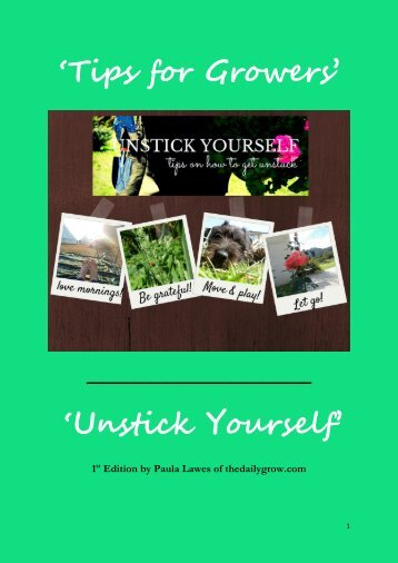 'Unstick Yourself' - 1st Edition