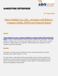 Aarkstore.com - Satrec Initiative Co., Ltd. : Aerospace and Defense - Company Profile, SWOT and Financial Report