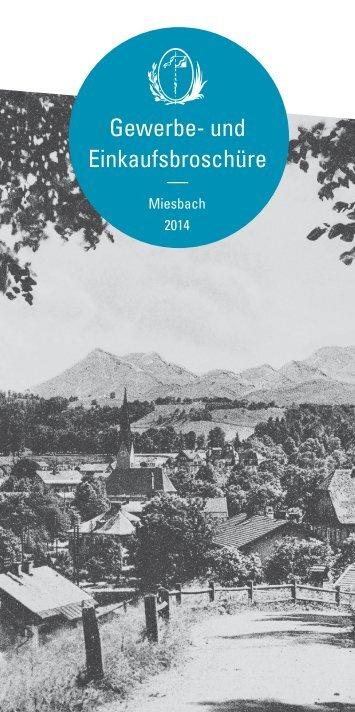 Gewerbe- und Einkaufsbroschüre Miesbach