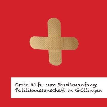Erste Hilfe zum Studienanfang: Politikwissenschaft in Göttingen