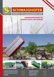 Schwaighofer Fahrzeug- und Landmaschinen GmbH | Anhängerprogramm für Landwirtschaft und Gewerbe