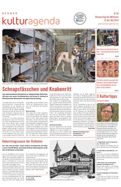 Berner Kulturagenda 2014 N°24