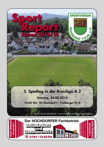 Sport Report - SV Hochdorf - Sonntag 24.08.2014